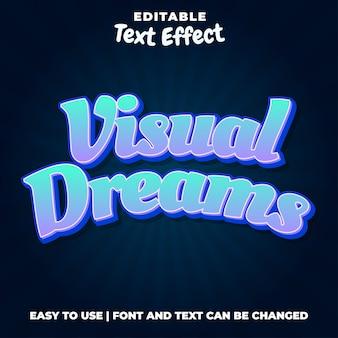 Visual dream - blauer bearbeitbarer texteffektstil