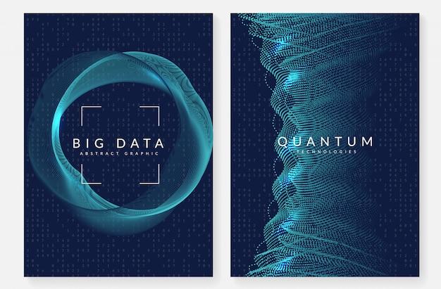 Visualisierung cover design. technologie für big data