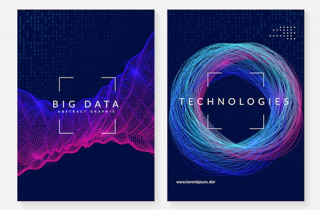 Visualisierung cover design. technologie für big data