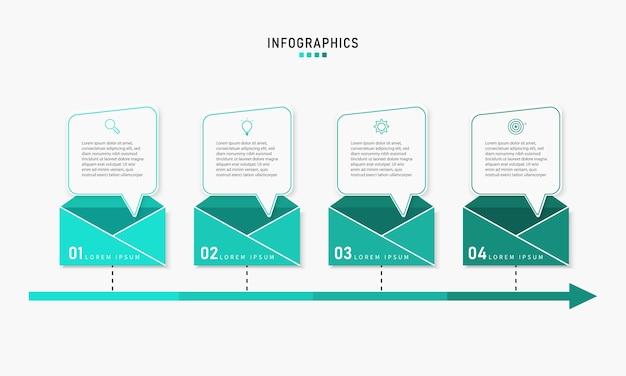 Visualisierung von geschäftsdaten. prozessdiagrammelement. abstraktes diagramm mit diagramm mit schrittoptionen, teilen oder prozessen. geschäftsvorlage. kreatives konzept für infografik.