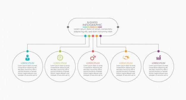Visualisierung von geschäftsdaten. zeitleiste infografik