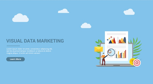 Visuelle datenmarketing-landeseite
