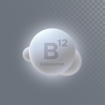 Vitamin b12 oder cobalamin-zeichen isoliert