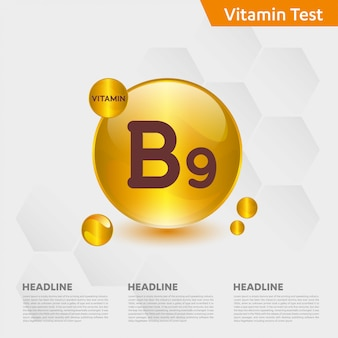 Vitamin b9 infographik vorlage