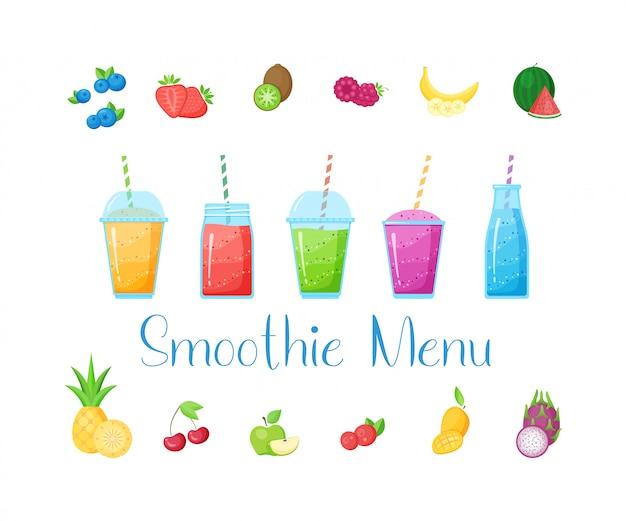 Vitamin smoothie cocktail sommer eingestellt