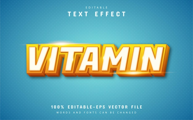 Vitamin-text-effekt