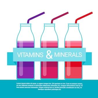 Vitamine cocktail flasche wesentliche chemische elemente