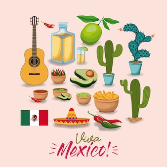 Viva mexiko buntes plakat