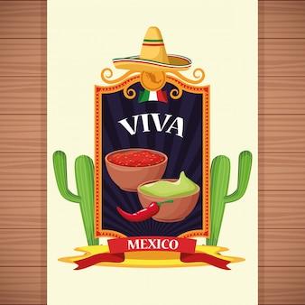 Viva mexiko hintergrund cartoons