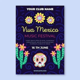 Viva mexiko poster vorlage