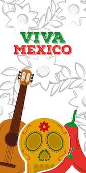 Viva mexiko vertikale banner