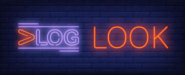 Vlog-look leuchtreklame