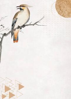 Vogel auf einem zweigrahmenvektor