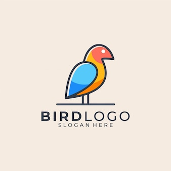 Vogel buntes logo