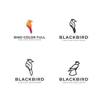 Vogel eagle colorful designs concept-illustration schablone