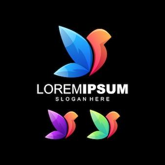 Vogel farbenfrohes logo