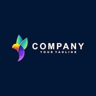 Vogel farbverlauf logo