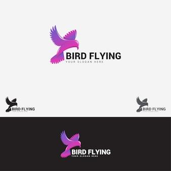 Vogel fliegendes logo