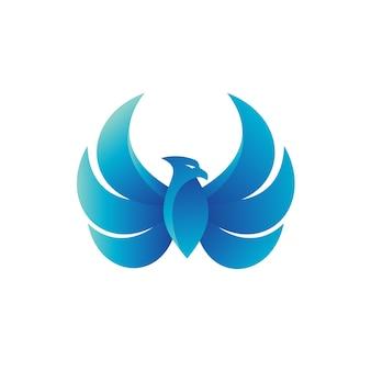 Vogel flügel logo vektor