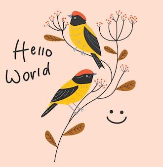 Vogel-illustrations-blüten-blume