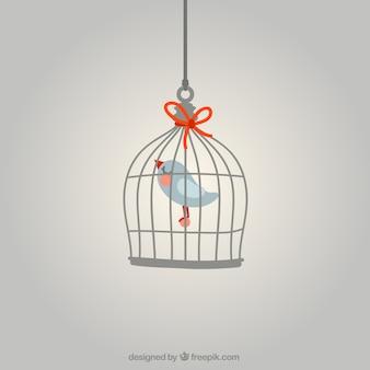Vogel in einem käfig