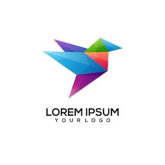 Vogel logo design bunt