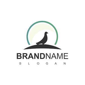 Vogel-logo-design mit taube, taubensymbol
