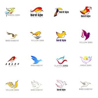 Vogel-logo gesetzt