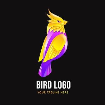 Vogel-logo-vorlage. buntes tierlogo