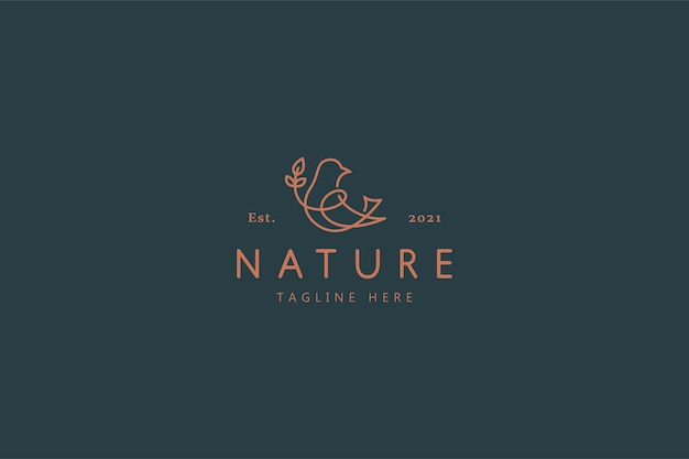 Vogel natur wild life illustration logo