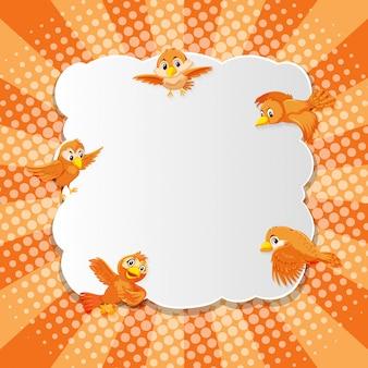 Vogel phantasie comic-cartoon-stil