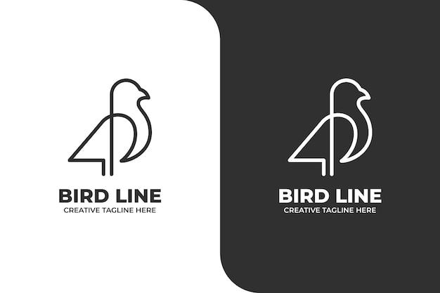 Vogel tier monoline logo geschäft
