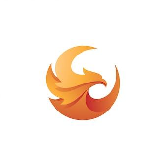 Vogeladler falcon hawk wing logo
