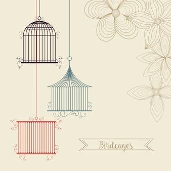 Vogelkäfig-symbol.