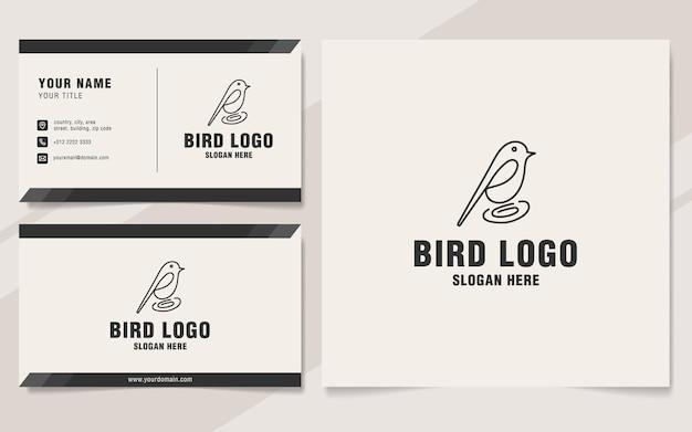Vogellinie logo-vorlage im monogramm-stil