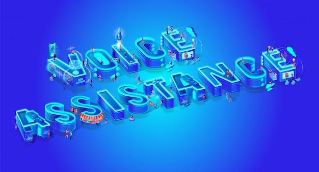 Voice assistance-schriftzug