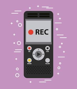 Voice-recorder-sound-arbeitsgeräte