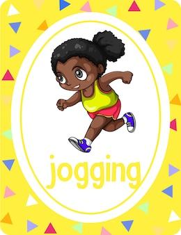 Vokabelkartei mit wort jogging