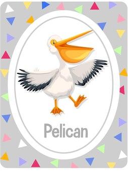 Vokabelkartei mit wort pelikan