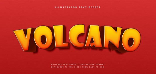 Volcano spicy food text style schriftart effekt