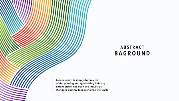 Volle farben und linien des abstrakten hintergrundes in einer schönen kombination.