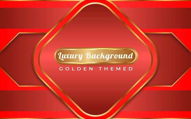 Voller roter hintergrund im goldenen stil