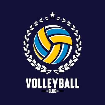 Volleyball-design-abzeichen, amerikanisches logo