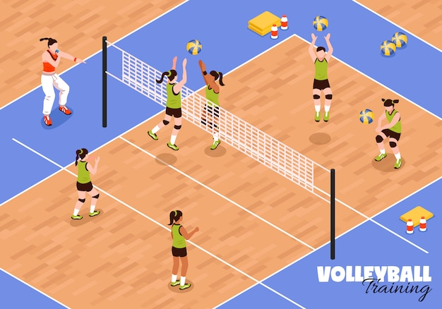 Volleyball kids team hintergrund