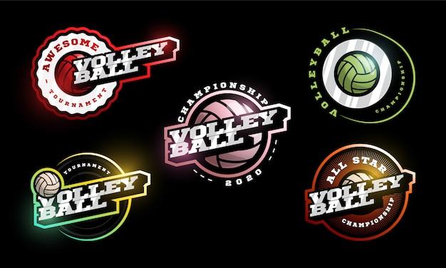 Volleyball logo set.