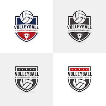 Volleyball-logo-vorlage