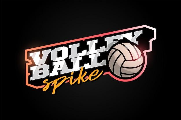 Volleyball maskottchen moderner profisport typografie im retro-stil.