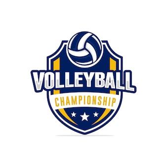 Volleyball-meisterschaft logo