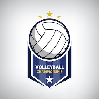 Volleyball-meisterschaftslogo
