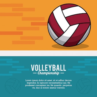 Volleyball sport ball meisterschaft postkarte